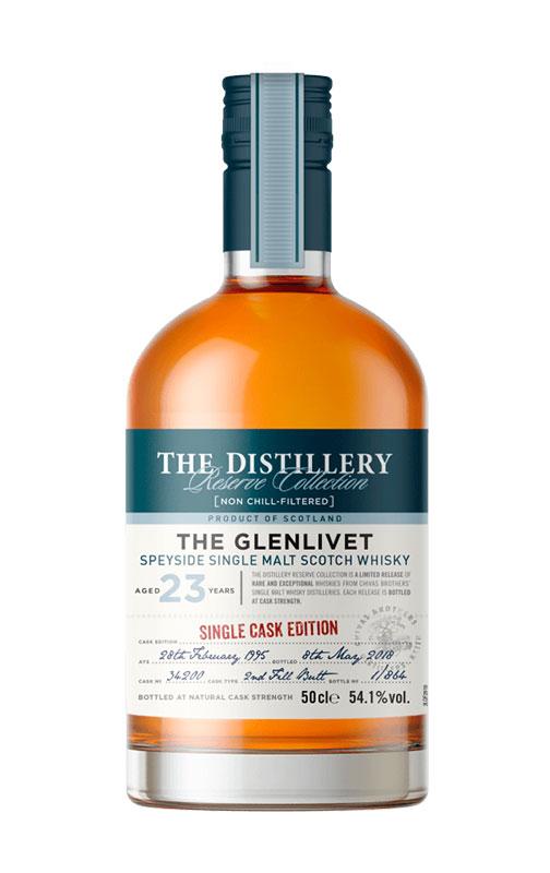 single malt scotch whisky: The Glenlivet 23 Y.O. Single Cask Edition Butt 2