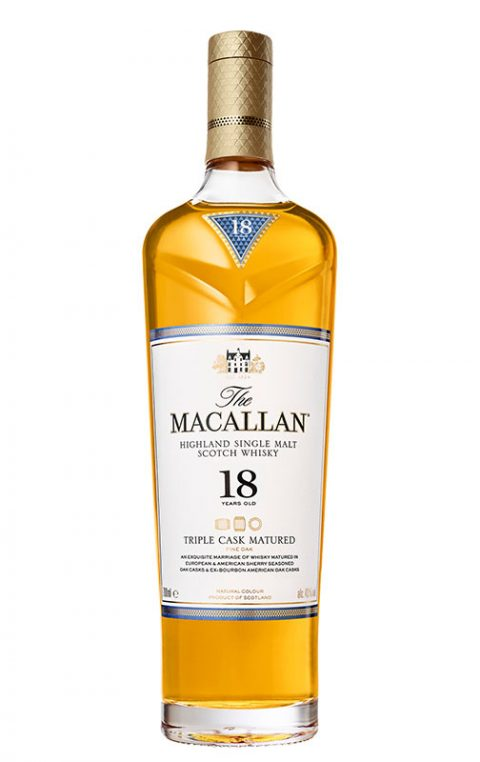 comprar whisky single malt marcas: The Macallan Triple Cask Matured 18 Years Old 43